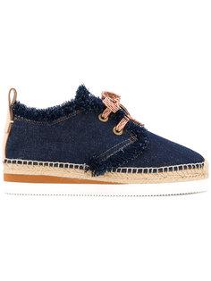 джинсовые туфли на шнуровке See By Chloé