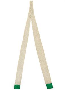 шарф с контрастной отделкой  Sacai