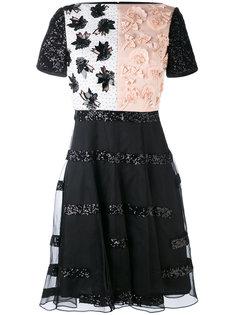 приталенное платье с аппликацией Talbot Runhof
