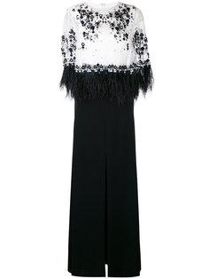 вечернее платье Monice1 с пайетками и перьями Talbot Runhof