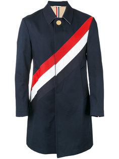 пальто с контрастными полосками Thom Browne