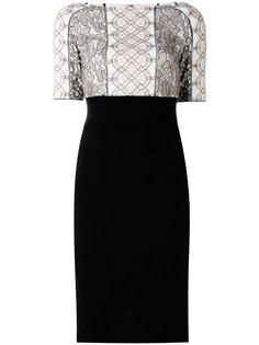 облегающее платье с кружевной аппликацией Talbot Runhof