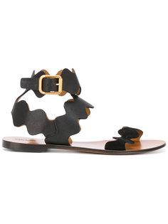 сандалии с волнистыми ремешками Chloé