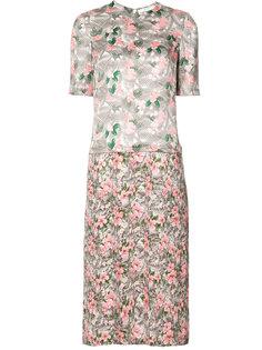 платье с цветочным принтом Julien David
