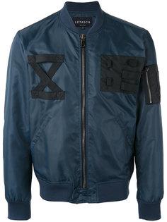 куртка-бомбер с ремешками на груди Letasca