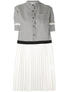 полосатое плиссированное платье  Moncler