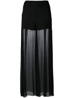 полупрозрачные брюки палаццо McQ Alexander McQueen