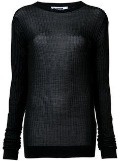 свитер с ребристой фактурой Jil Sander