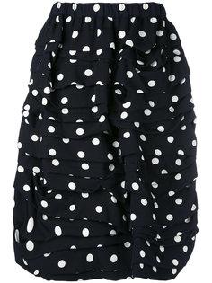 юбка в горох с драпировкой Comme Des Garçons