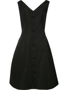 платье с декором в виде пуговиц Christian Siriano