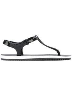 сандалии с Т-образной планкой Calvin Klein