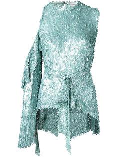 блузка с поясом и пайетками Magda Butrym