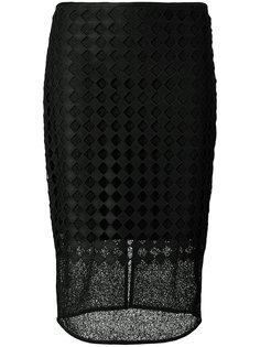 прозрачная юбка-карандаш с вышивкой Dvf Diane Von Furstenberg