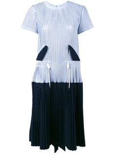 платье с микро плиссировкой Sacai