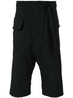 шорты с заниженным шаговым швом и необработанным краем  Damir Doma
