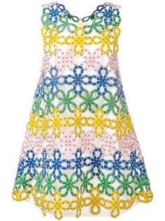 кружевное платье макраме Sara Battaglia