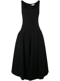 расклешенное платье миди Sara Battaglia