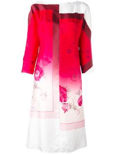 платье миди с цветочным принтом Salvatore Ferragamo