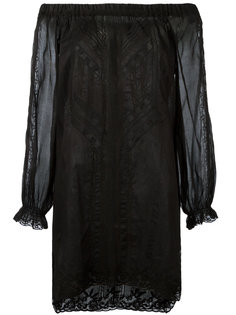 кружевное мини-платье с открытыми плечами Ermanno Scervino