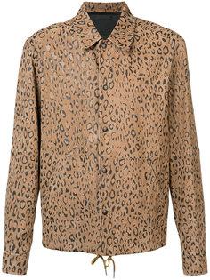куртка рубашечного фасона с леопардовым принтом Alexander Wang