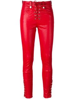 блестящие брюки на шнуровке Manokhi