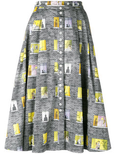 юбка с рисунком в виде окон Olympia Le-Tan