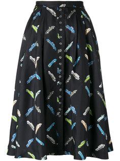 юбка с рисунком из машин Olympia Le-Tan