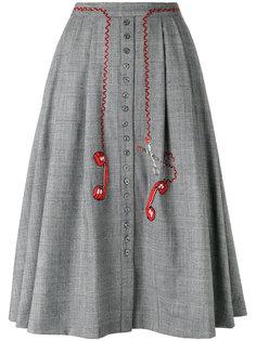 юбка с аппликациями в виде телефонов Olympia Le-Tan