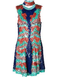 платье с отделкой из пайеток Christian Siriano