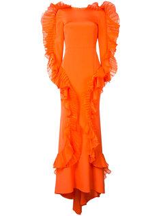 вечернее платье с оборками Christian Siriano