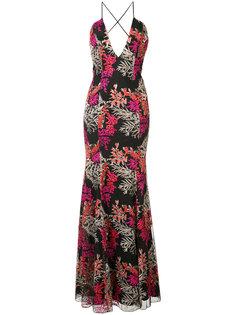 вечернее платье с цветочной вышивкой Jay Godfrey