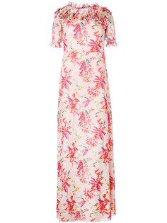 длинное платье с цветочным принтом Giamba