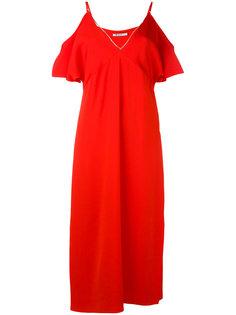 платье с открытыми плечами T By Alexander Wang