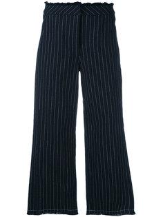 укороченные брюки в тонкую полоску T By Alexander Wang