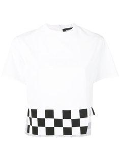 укороченная футболка в клетку Dsquared2