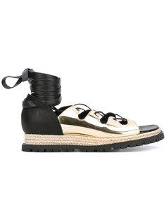 сандалии-эспадрильи со шнуровкой Sacai