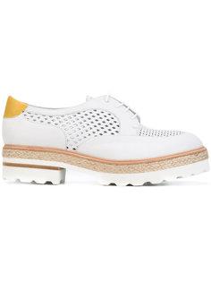 туфли с наборной подошвой  Fratelli Rossetti