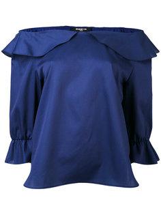блузка с оборками и открытыми плечами Paule Ka