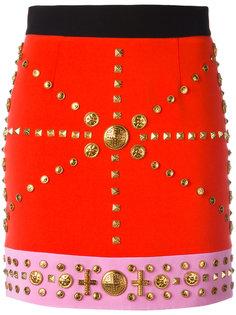 облегающая юбка с заклепками Fausto Puglisi
