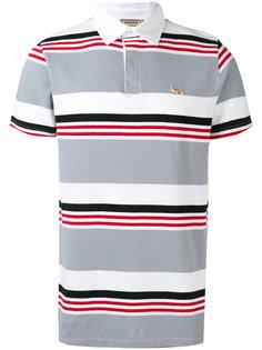 полосатая футболка-поло Maison Kitsuné