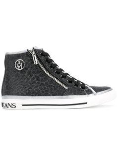 кроссовки с монограммой Armani Jeans