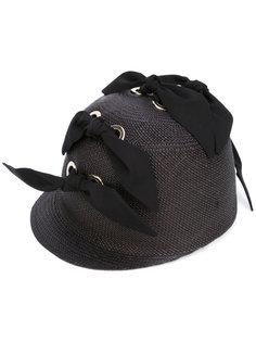 шляпа декорированная бантами Federica Moretti