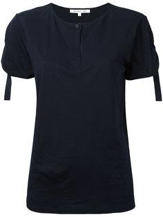 футболка со сборками на рукавах Helmut Lang