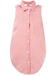 рубашка в полоску без рукавов Nanushka