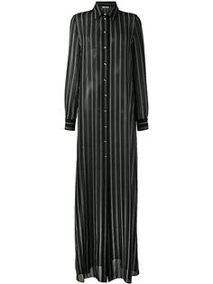 платье-рубашка макси в полоску Lanvin