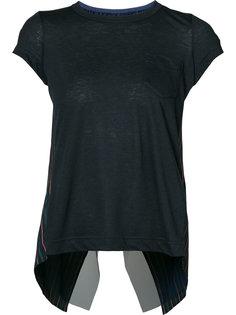 футболка в полоску с перекрещивающейся спинкой Sacai
