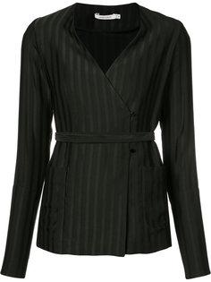 блуза с запахом в пижамном стиле Protagonist