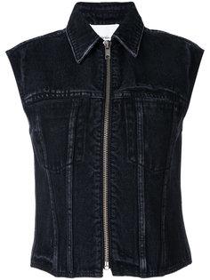 джинсовый жилет на молнии  3.1 Phillip Lim