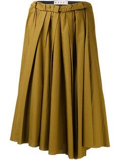 юбка миди с присборенной отделкой  Marni