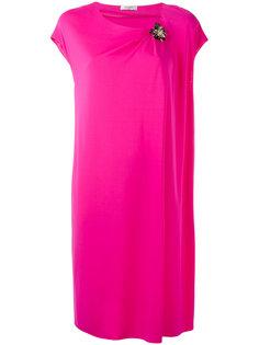 декорированное платье с драпировкой  Lanvin